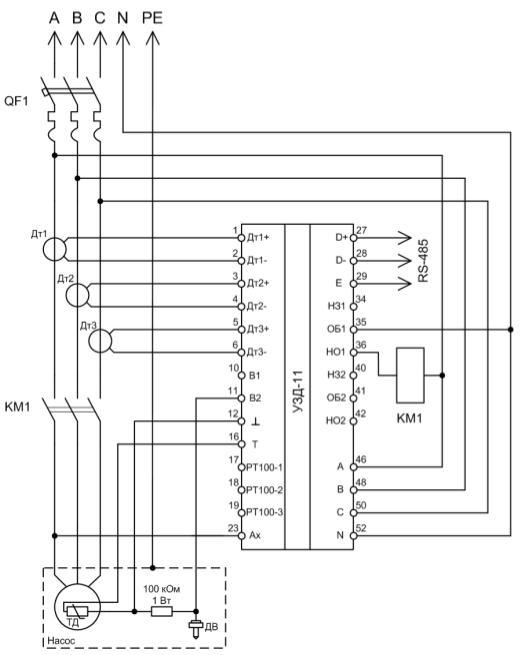 ДТ3 — датчик тока, ТД — датчик